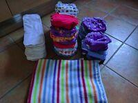 24 reusable nappies + extras