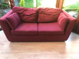 Used Argos red fold away sofa bed for sale approx 170X92X68cm