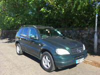 **** MERCEDES BENZ ML 320 WITH 1 YEARS MOT TEST ****