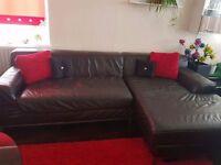 Nice leather brown sofa