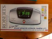 Roberts CR9945 Dual Alarm Clock Radio with Radio-Controlled Time