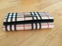 Luxury British lattice Long wallet purse