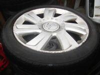 Peugeot Citreon Alloys 16 and 17 inch suit Partner Berlingo Vans