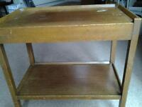 Retro WOODEN TEA TROLLEY with 2 extension leaves £10