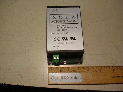 Sola Modular Power Supply 24vdc Model Scp30 S 24-dn