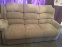 3 seater sofa and matching rise and recliner chair