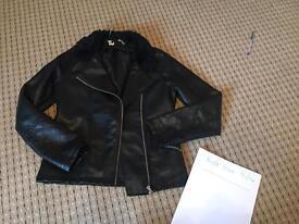 Girls leather type jacket
