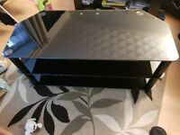 Black glass TV stand. FREE delivery in Derby