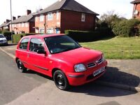 Nissan micra 1.0 mot may drives great