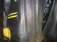 """Biker's Leather Jacket 48"""" Chest - AS NEW"""