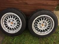 Pair bbs 4x100 wheels
