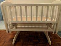John Lewis Anna glider crib white cot baby bed
