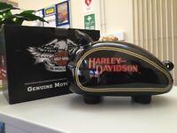 Harley Davidson Tank Shaped Ceramic Piggy Bank