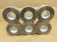 e-tape 6 rolls 150m x 48mm buff/brown tape