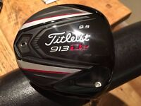 Titleist 913 D2 (9.5d) Driver with Stiff shaft (Barely used)