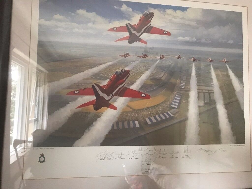 Limited edition of Red Arrows at 1991 British GP by Mark Postlethwaite.