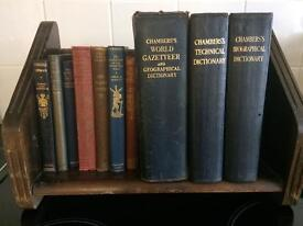 10 Vintage Old Books, Some With Gilt Decorated Spines 1919 - 1955