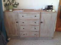 Antique wooden dresser unit