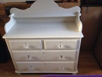 Chest of Drawers beautiful antique, painted in ash white, no chips or scratches. VGC in Macclesfield
