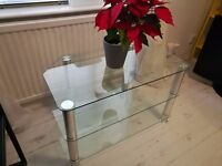 3 Tier Glass TV Stand - Good Condition