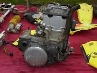 suzuki drz 400 engine also breaking complete runing bike