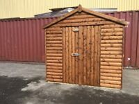 8ft x 8ft Apex Shed with 32mm loglap cladding