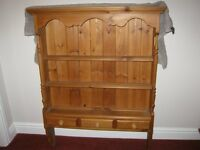 Solid pine shelving wall unit in excellent condition