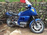 BMW K100 LT motorbike, blue