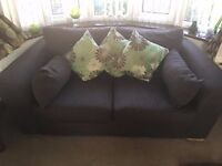 3 and 2 seat sofa. Cushions included.