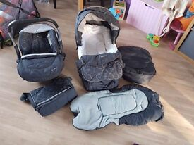 Silvercross linear freeway travel system. WITH ISOFIX BASE