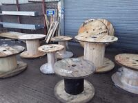 Wooden cable drums for upcycle , recliamed drums for repurpose various sizes availible