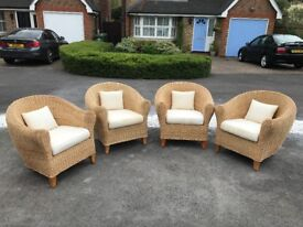 Conservatory Armchairs - Chairs and cushions in excellent condition - covers ok condition
