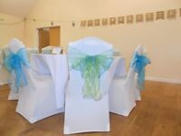 Job Lot Chair covers, table cloths and sashes ideal to start your own business
