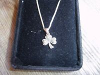 925--Silver Pendant and Chain---Hallmarked