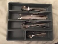 Ikea Cutlery tray with cutlery - great condition