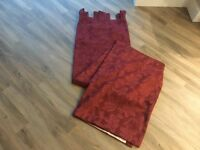 Curtains burgundy colour with loops