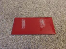 44 Red Metro Tiles - 10x20cm