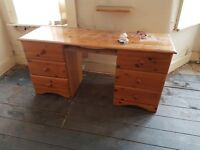 Dressing Table with drawers (use as it is or perhaps a ShabbyChic project?)