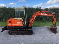 Pel Job EB36 mini digger / excavator servo controls full cab no vat