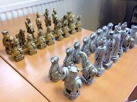 Ornate Chess Set - Indian