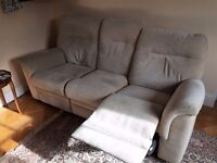 High Quality Parker Knoll three-seater Reclining Sofa