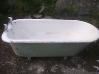Cast Iron Bath 56 inches long 26inches wide 19 inches high