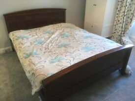 Beautiful cherry wood king size bed frame