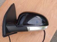 Volkswagen Golf MK5 04-08 L/H Door/Wing Mirror Metallic Black