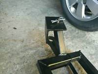 Motorcycle towing dolly
