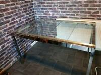 Solid glass dining table