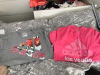 2 adidas tshirts