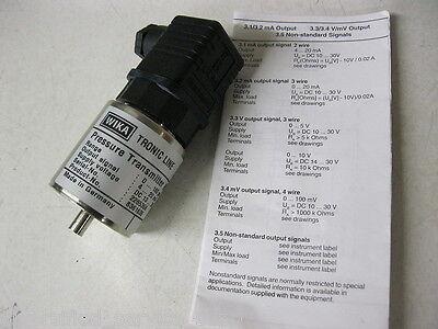 891.24.510 Pressure Transmitter Wika Tronic Line 0 To 160 Psi 4-20ma 13-36 Vdc