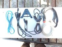 large lot of television/charger leads check images