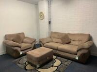 Beautiful DFS Fabric sofa set delivery 🚚 sofa suite couch furniture